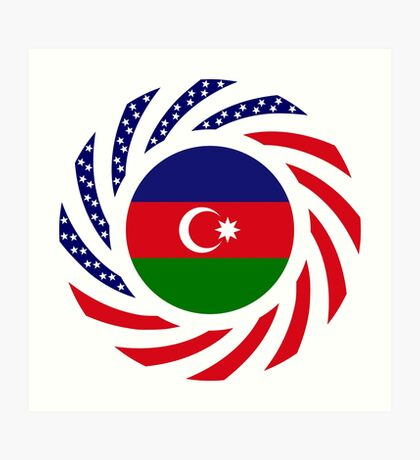 Azerbaijani American Multinational Patriot Flag Series Art Print