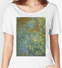 Claude Monet - Irises By The Pond Women's Relaxed Fit T-Shirt