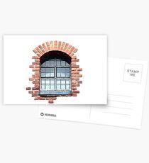 Isolated window 2017 Postcards