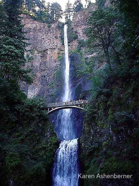 Multnomah Falls - Oregon by Karen Ashenberner