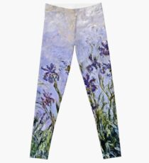 Claude Monet - Iris Mauves Leggings