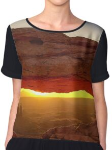 Mesa Arch Morning Glow Chiffon Top