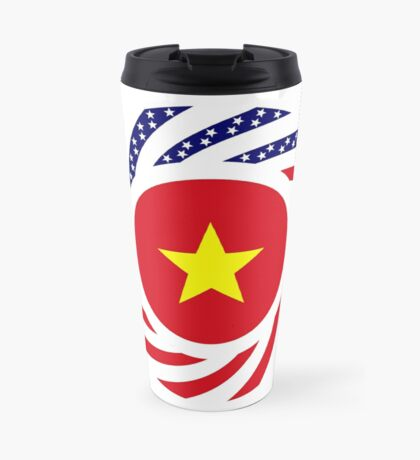 Vietnamese American Multinational Patriot Flag Series Travel Mug