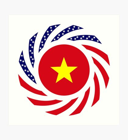 Vietnamese American Multinational Patriot Flag Series Art Print