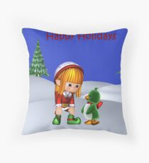 Looking for Lily Throw Pillow