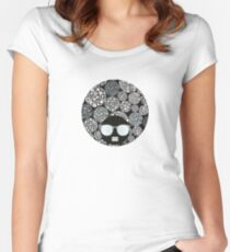 Snow flowers Women's Fitted Scoop T-Shirt