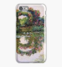 Claude Monet - Rose Flowered Arches At Giverny, 1913 iPhone Case/Skin