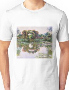 Claude Monet - Rose Flowered Arches At Giverny, 1913 Unisex T-Shirt
