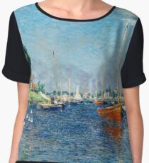 Claude Monet - Red Boats, Argenteuil (1875) Women's Chiffon Top