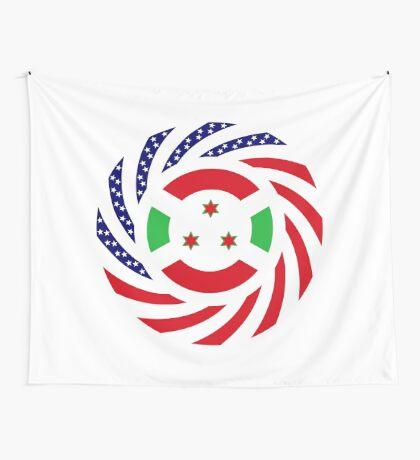 Burundi American Multinational Patriot Flag Series Wall Tapestry