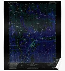 USGS TOPO Map Colorado CO Garfield 233050 1982 24000 Inverted Poster