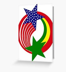 Senegalese American Multinational Patriot Flag Series Greeting Card