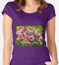 Bunch of blooming flowers Women's Fitted Scoop T-Shirt