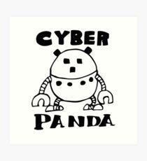 Cyber Danger Panda  Art Print