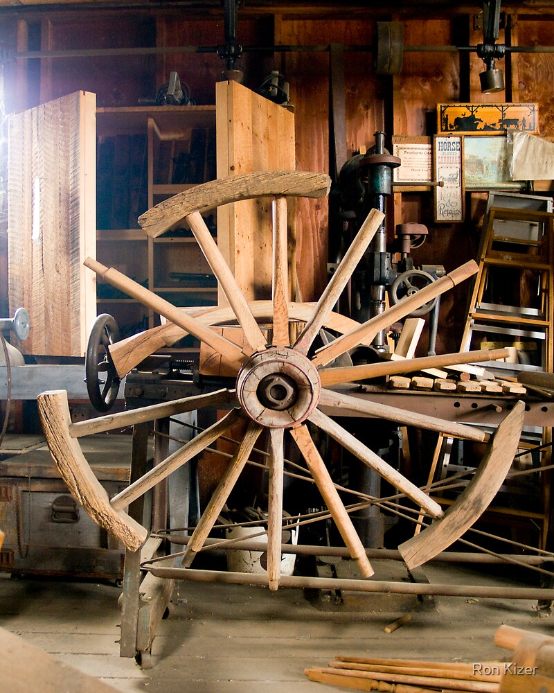 The Wheelwright Shop by Ron Kizer