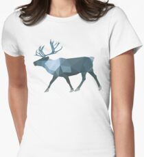 cool mountain caribou Womens Fitted T-Shirt