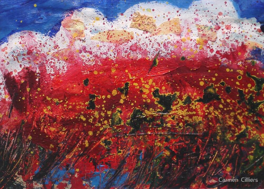 Wildflower Storm  by Carmen  Cilliers