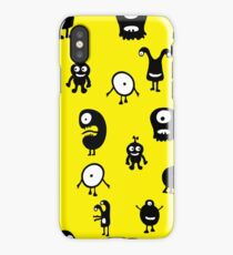 Funny and crazy cartoon monsters seamless pattern iPhone Case/Skin