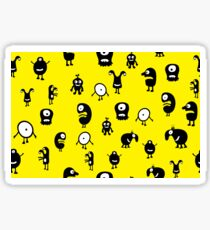 Funny and crazy cartoon monsters seamless pattern Sticker
