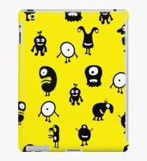 Funny and crazy cartoon monsters seamless pattern iPad Case/Skin