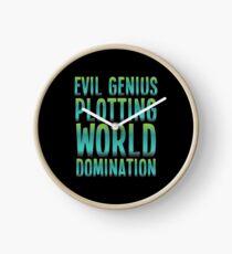 Evil Genius Plotting World Domination Clock