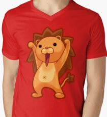 Chibi Lion Men's V-Neck T-Shirt