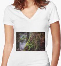 Tahune Tree Tasmania Women's Fitted V-Neck T-Shirt