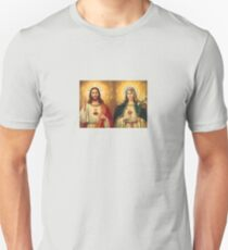 Virgin Mary and Jesus Immaculate Heart Religion Catholic Unisex T-Shirt