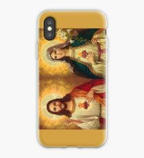 Virgin Mary and Jesus Immaculate Heart Religion Catholic iPhone Case