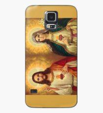 Jungfrau Maria und Jesus Unbeflecktes Herz Religion Katholik Hülle & Klebefolie für Samsung Galaxy