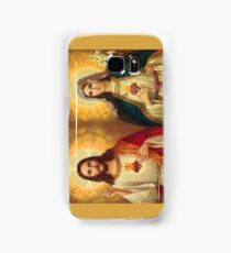 Virgin Mary and Jesus Immaculate Heart Religion Catholic Samsung Galaxy Case/Skin