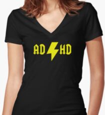 ADHD Women's Fitted V-Neck T-Shirt