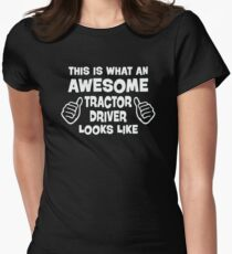 Awesome Tractor Driver Womens Fitted T-Shirt