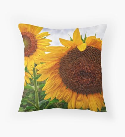 Sunflower Mama & her Daughters Throw Pillow