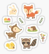 Cute Woodland Forest Animals Sticker