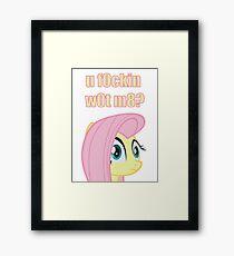 Fluttershy - MLP FiM - Brony Framed Print
