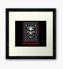 Pixelart Demonic Skull Framed Print