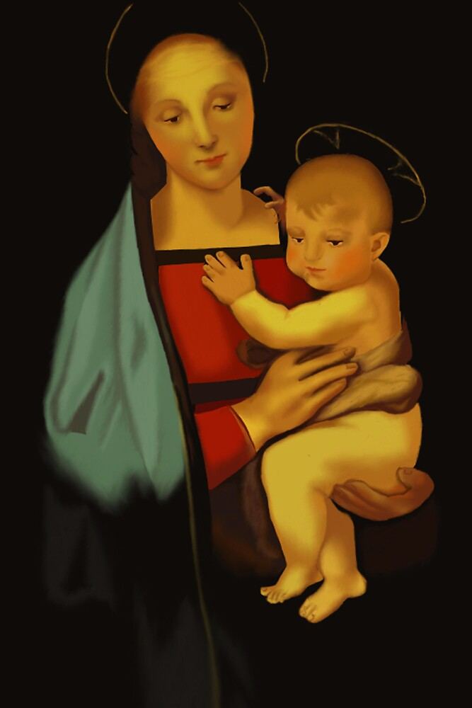 Reproduction of  Raphael's Madonna del Granduca by YourSuccess