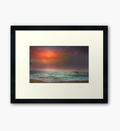 Water Stroll Framed Print