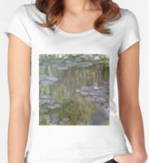 Claude Monet - Nympheas At Giverny Women's Fitted Scoop T-Shirt