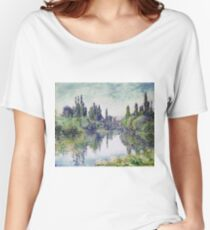 Claude Monet - Morning On The Seine, Near Vetheuil, 1878 Women's Relaxed Fit T-Shirt
