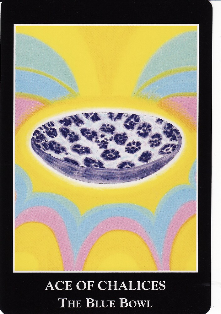 Ace of Chalices - The Blue Bowl by Lisa Tenzin-Dolma