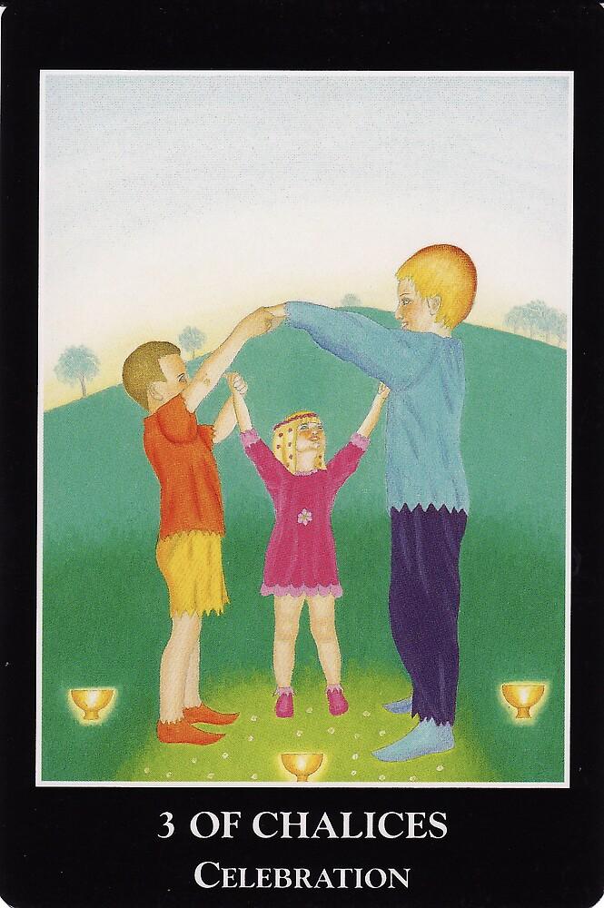 3 of Chalices - Celebration by Lisa Tenzin-Dolma