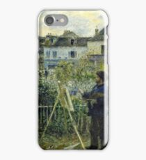 Claude Monet - Monet Painting In His Garden At Argenteuil I 1873 iPhone Case/Skin