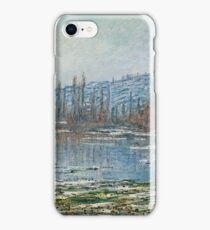 Claude Monet - Melting Of Floes At Vetheuil (1881) iPhone Case/Skin