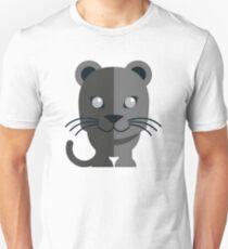 Cute black cartoon panther Unisex T-Shirt