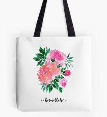 Bismillah Floral Bouquet Tote Bag