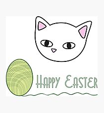 Happy Easter - green Photographic Print