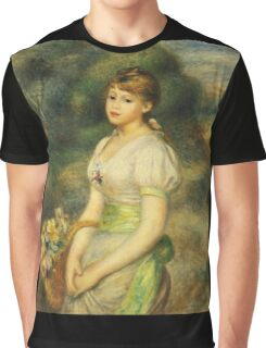 Auguste Renoir - Young Girl With A Basket Of Flowers 1888 Graphic T-Shirt