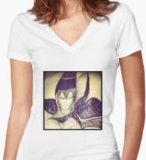 dark magician yu gi oh Women's Fitted V-Neck T-Shirt
